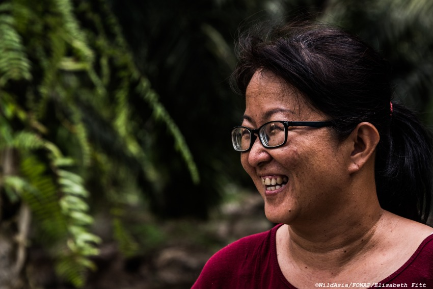 Chiam Siew Boey helps her husband on the family's own oil plantation. The 46-year-old oversees and keeps the books for the plantation, from production figures to expenditure on fertiliser.